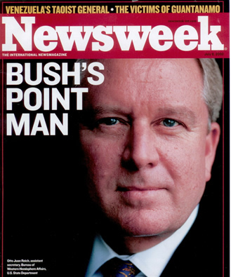 Otto Reich on the Cover of Newsweek